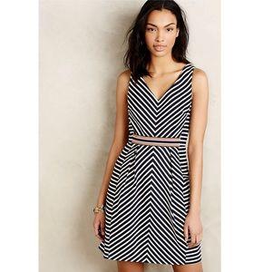 Anthropologie   Maeve Navy Stripe Pocket Dress 8